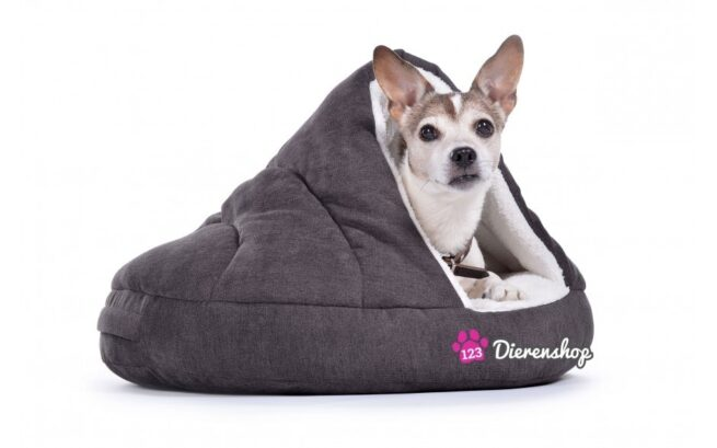 Hondenmand Snuggle Cave Deluxe Grijs-17283
