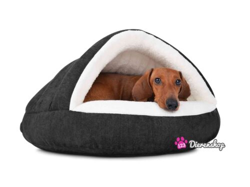 Hondenmand Snuggle Cave Deluxe Zwart-0