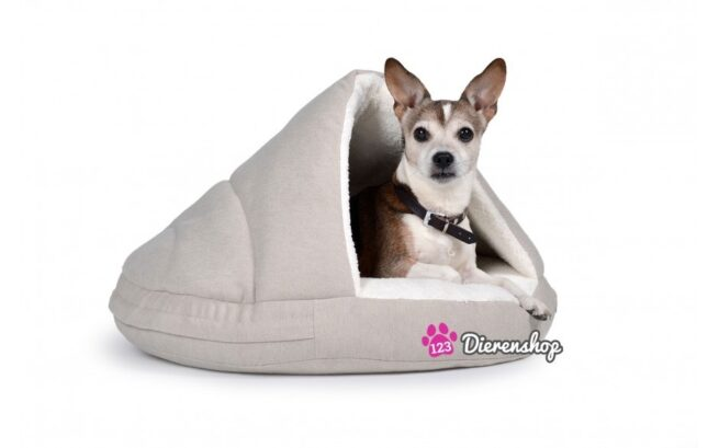 Hondenmand Snuggle Cave Deluxe Crème-17284