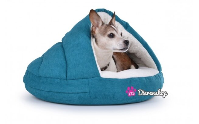 Hondenmand Snuggle Cave Deluxe Turquoise-17289