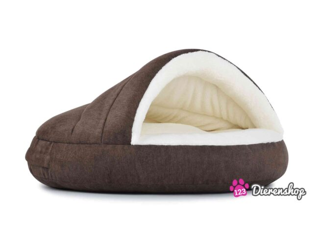 Hondenmand Snuggle Cave Deluxe Bruin-18048