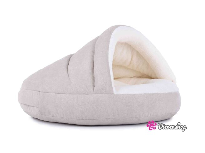 Hondenmand Snuggle Cave Deluxe Crème-18052