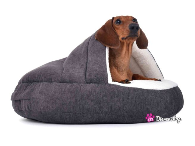 Hondenmand Snuggle Cave Deluxe Grijs-0