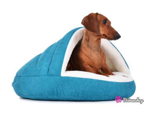 Hondenmand Snuggle Cave Deluxe Turquoise-0