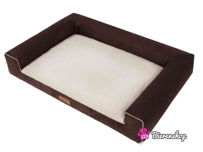 Hondenmand Lounge Bed Suedine Deluxe Bruin 100 cm-17538
