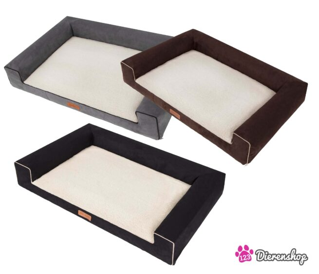 Hondenmand Lounge Bed Suedine Deluxe Bruin 100 cm-18545