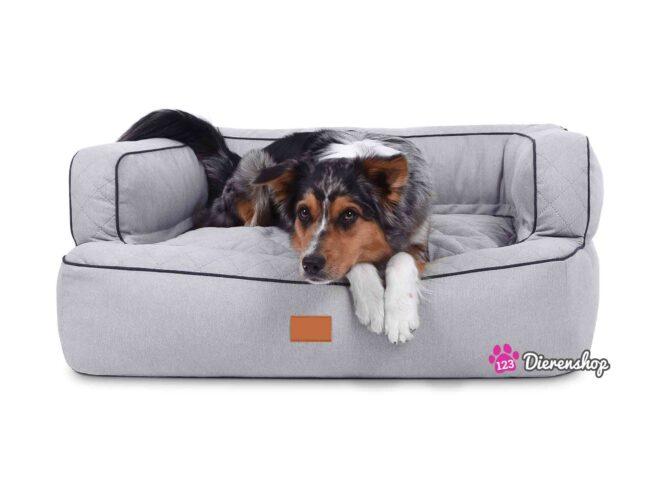 Hondenmand Lounge Deluxe Zilver-0