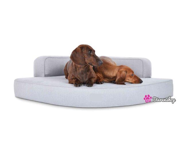 Hondenmand Hoekmodel Luxery Zilver-0