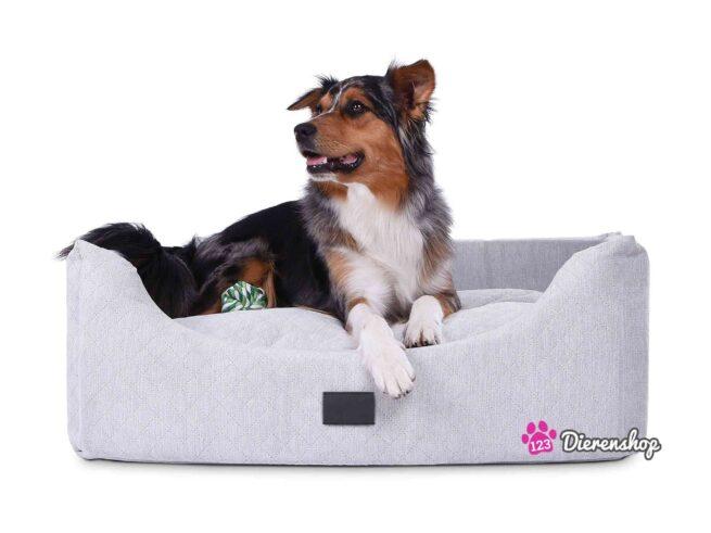 Hondenmand Rectangulem Trend Deluxe Zilver-0