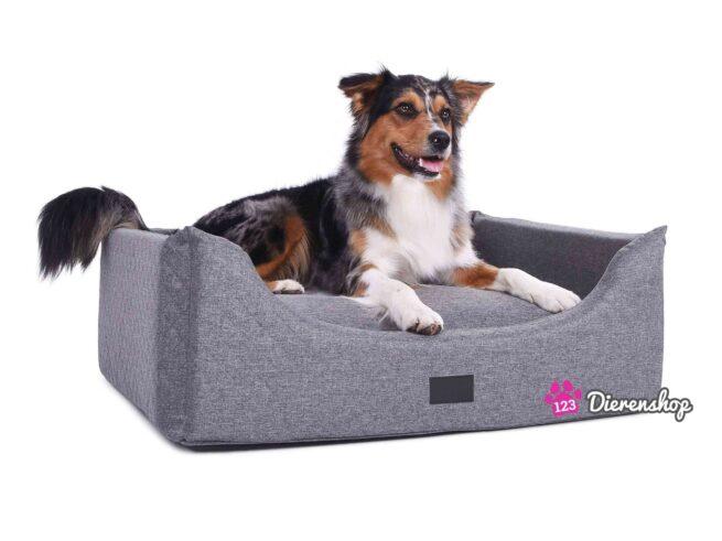 Hondenmand Rectangulem Soft Deluxe Grijs-0