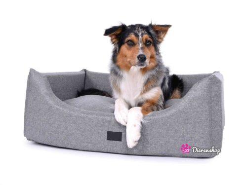 Hondenmand Rectangulem Deluxe Soft Zilver-0