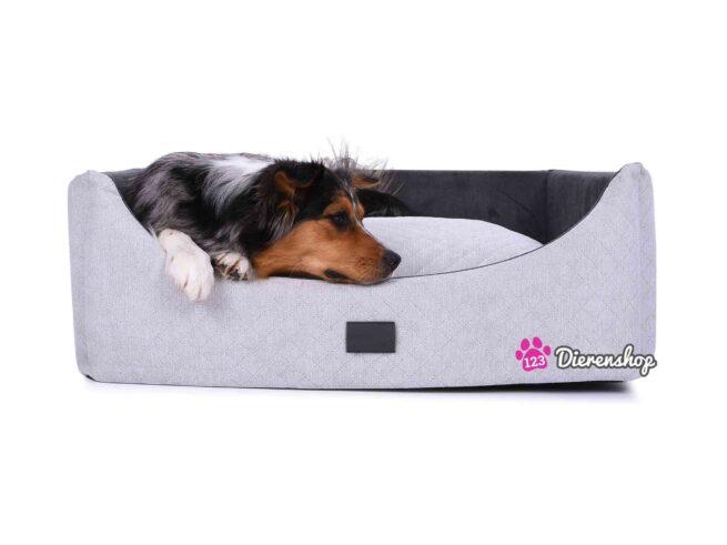 Hondenmand Rectangulem Trend Deluxe Zilver-Antraciet-0