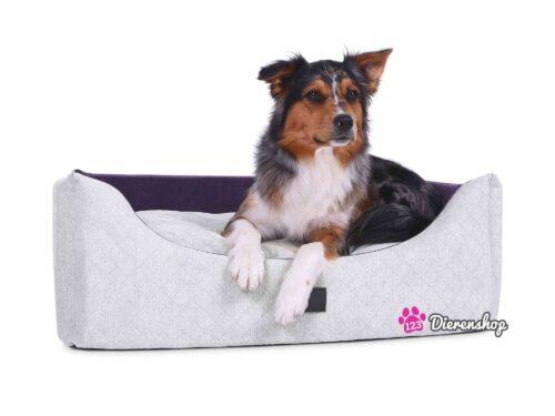 Hondenmand Rectangulem Trend Deluxe Zilver-Violet-0