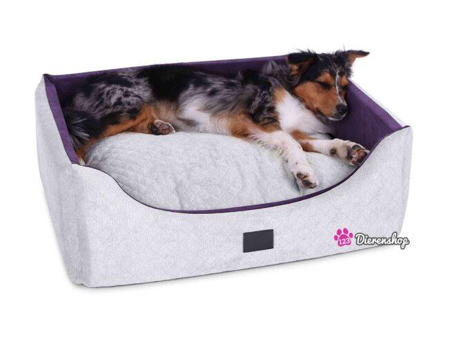 Hondenmand Rectangulem Trend Deluxe Zilver-Violet-17874
