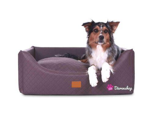 Hondenmand Rectangulem Deluxe Bruin-0