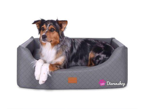 Hondenmand Rectangulem Deluxe Zilver-0