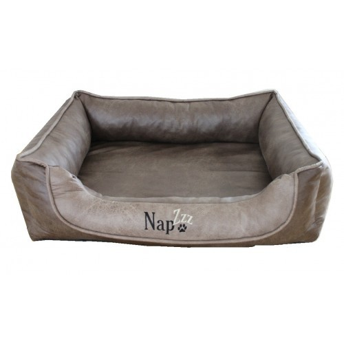 Hondenmand Napzzz Leatherlook Duo Bruin Beige 90 cm-0