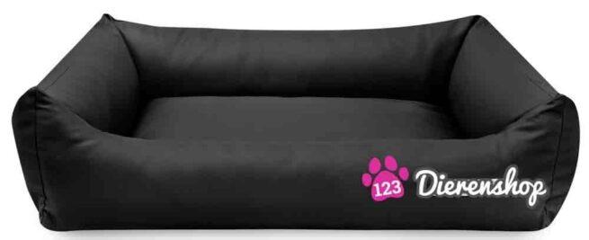 Hondenmand Zwart kunstleer-18083