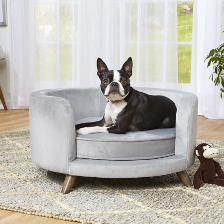Hondensofa Rosie rond Grijs 70 cm-18600