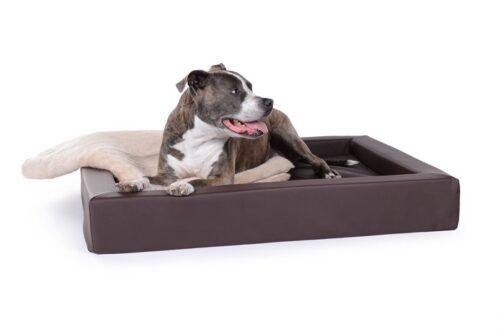 Hondenmand Ligbed Deluxe Bruin-0