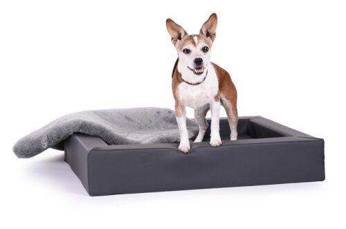 Hondenmand Ligbed Deluxe Grijs-0