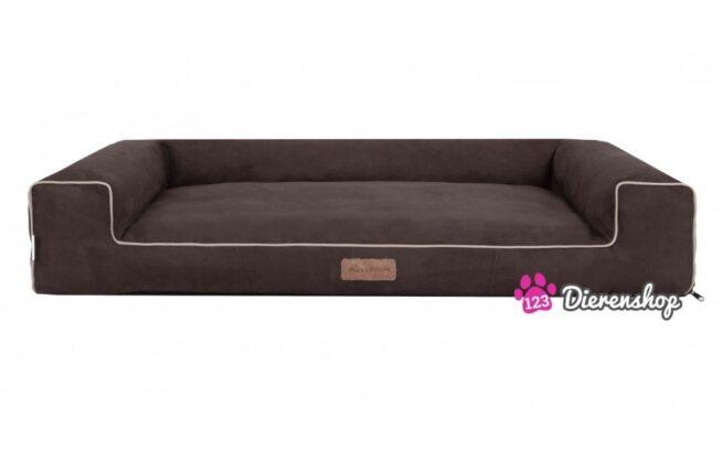 Hondenmand Lounge bed Suedine Bruin 120 cm-0