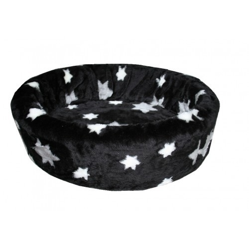 Hondenmand Bontmand Ster Zwart 90 cm-0