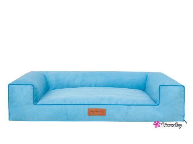 Hondenmand Lounge Bed Suedine Blauw 80 cm-0