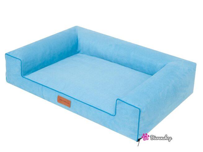 Hondenmand Lounge Bed Suedine Blauw 80 cm-19610