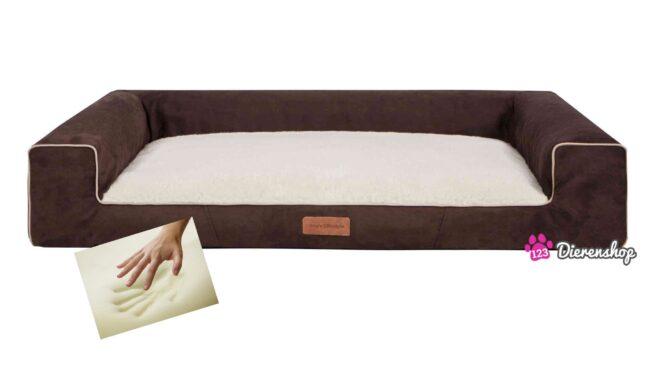 Orthopedische hondenmand Lounge Bed Suedinde Deluxe Bruin 100 cm-0