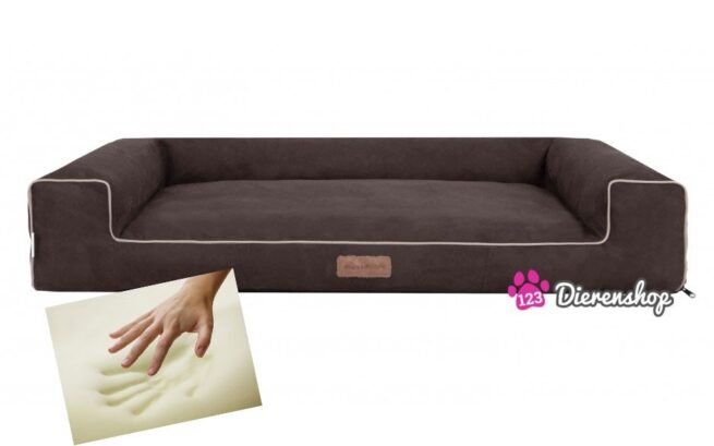 Orthopedische hondenmand Lounge Bed Suedinde Bruin 100 cm-0