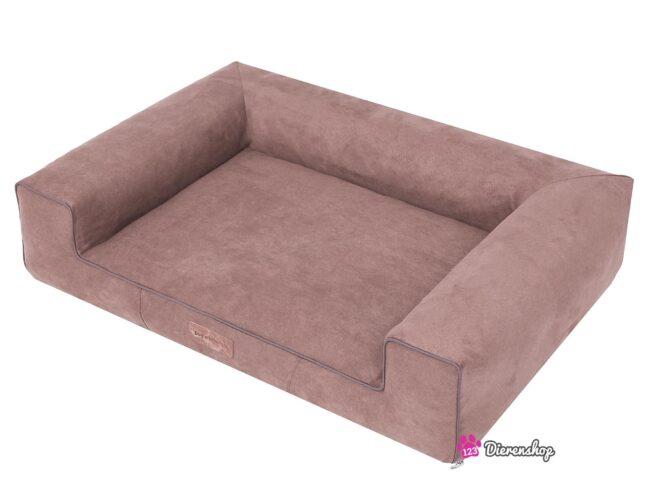 Hondenmand Lounge Bed Suedine Lichtbruin 120 cm-19614