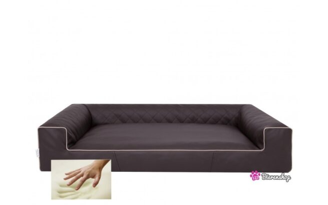 Orthopedische hondenmand Lounge Bed Indira Bruin 80cm-0