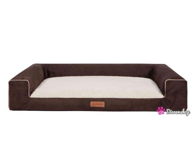 Hondenmand Lounge Bed Suedine Deluxe Bruin 80 cm-0