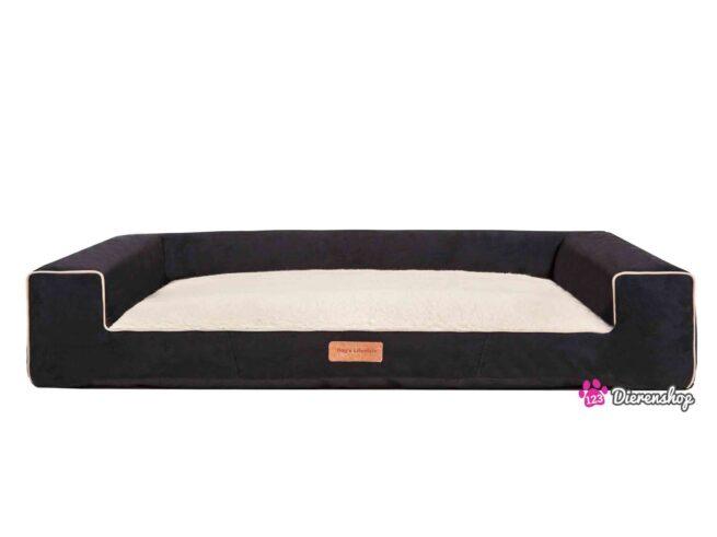 Hondenmand Lounge bed Suedine Deluxe Zwart 120 cm-0