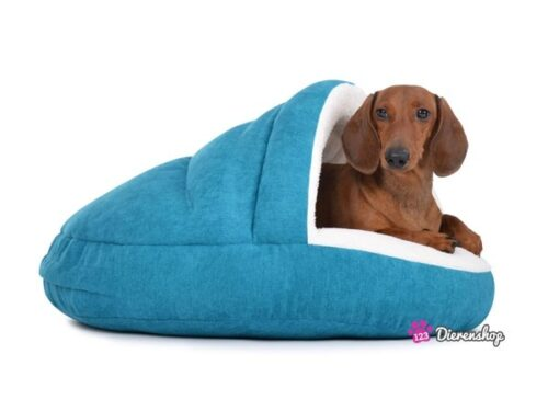 Hondenmand Snuggle Cave Deluxe Turquise 75 cm-0