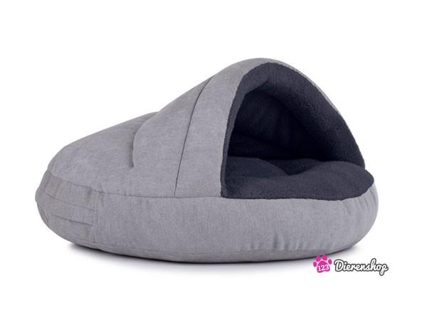 Hondenmand Snuggle Cave Deluxe Zilver-Antraciet 75 cm-0