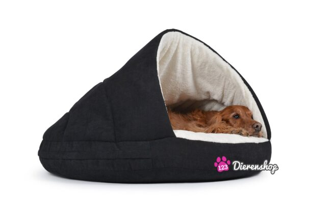 Hondenmand Snuggle Cave Zwart Deluxe 75 cm-0