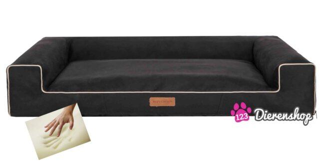 Orthopedische hondenmand Lounge Bed Indira Suedine Zwart 120cm-0