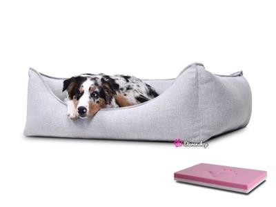 Orthopedische hondenmand Luxery Zilver 70cm-0