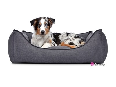 Hondenmand Luxery Donkergrijs 130cm-0