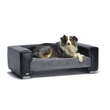 Hondenbank Zwart-Grijs-0