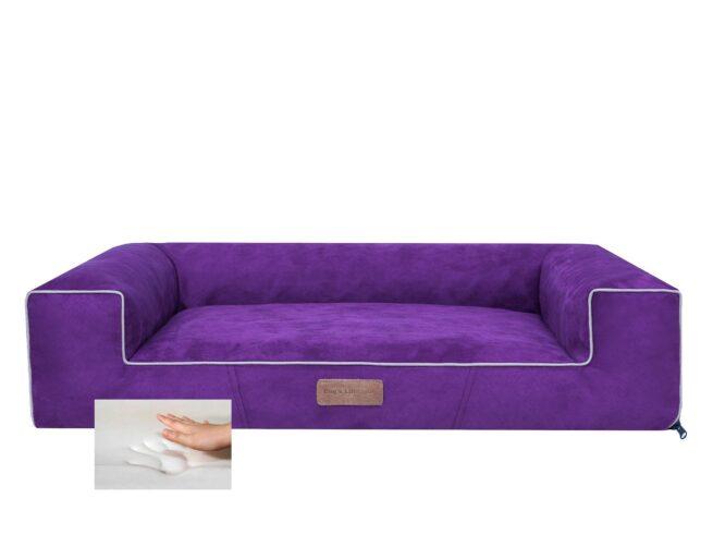 Orthopedische hondenmand Lounge Bed Suedine Paars 100cm-0