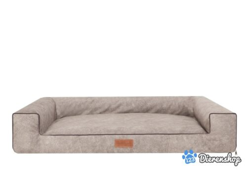 Hondenmand Lounge Bed Indira Misty Taupe-0