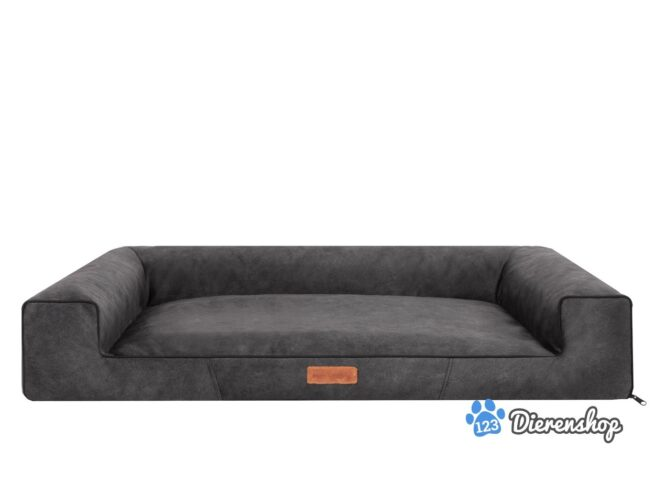 Hondenmand Lounge Bed Indira Misty Antraciet 120cm-0