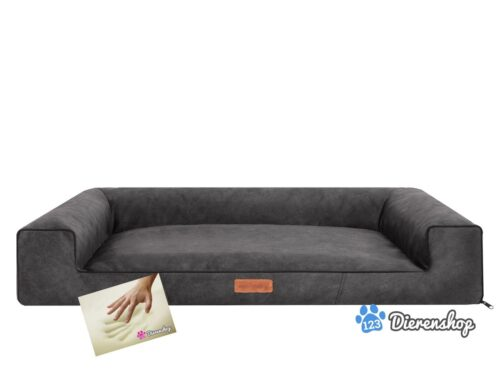 Orthopedische hondenmand lounge bed indira misty antraciet 100cm-0