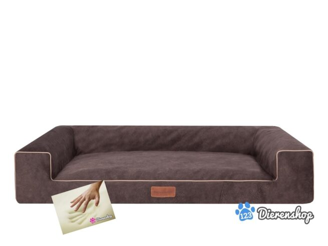 Orthopedische hondenmand lounge bed indira misty bruin 80cm-0