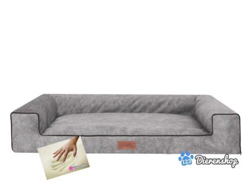 Orthopedische hondenmand Lounge bed Indira Misty Grijs 80cm-0