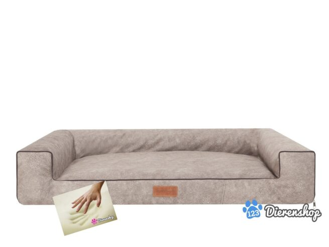 Orthopedische hondenmand lounge bed indira misty taupe 120cm-0