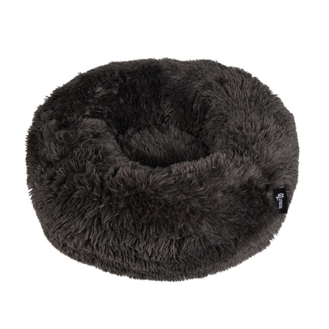 Geen categorie Hondenmand Donut Fuzz Donkergrijs 80cm